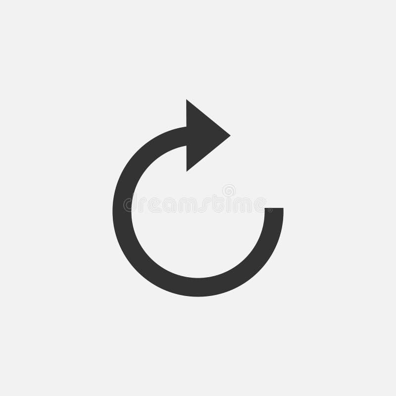 Régénérez l'icône, flèche, la refaites, remettez en marche illustration stock