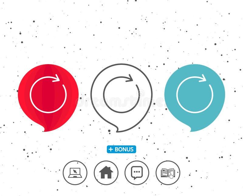 Régénérez la ligne icône Signe de flèche de rotation illustration stock