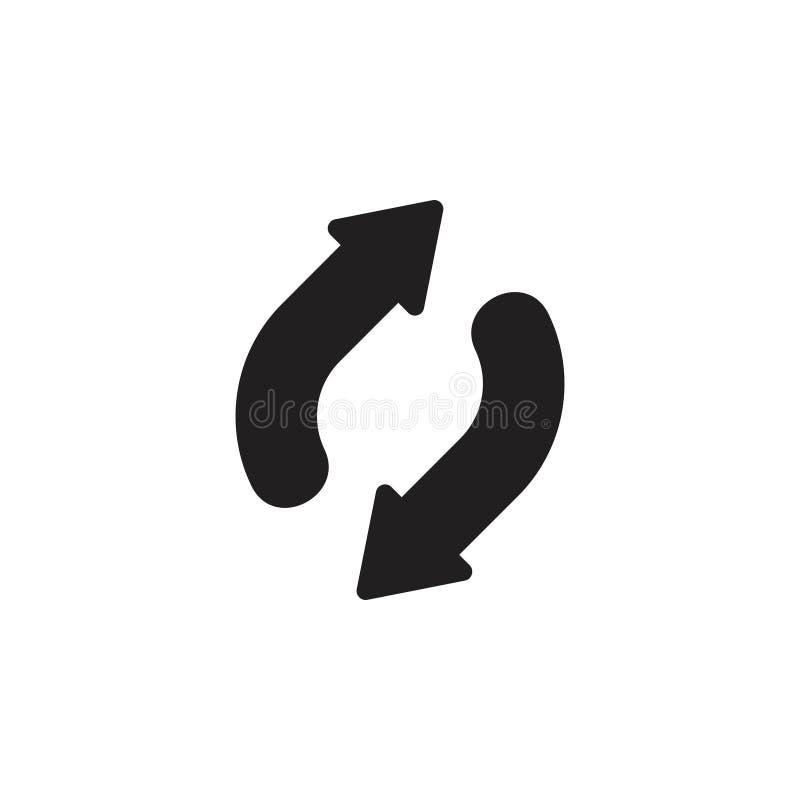 Régénérez vis-à-vis du vecteur de logo de flèche photographie stock libre de droits