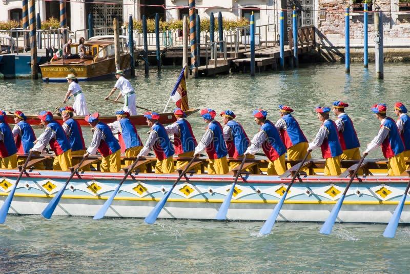 Régate historique de Regata Storica À Venise Italie photos stock