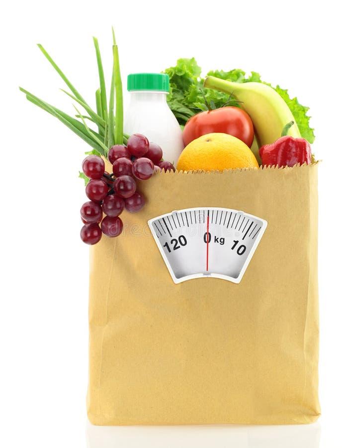 Régime avec des fruits et légumes photos libres de droits