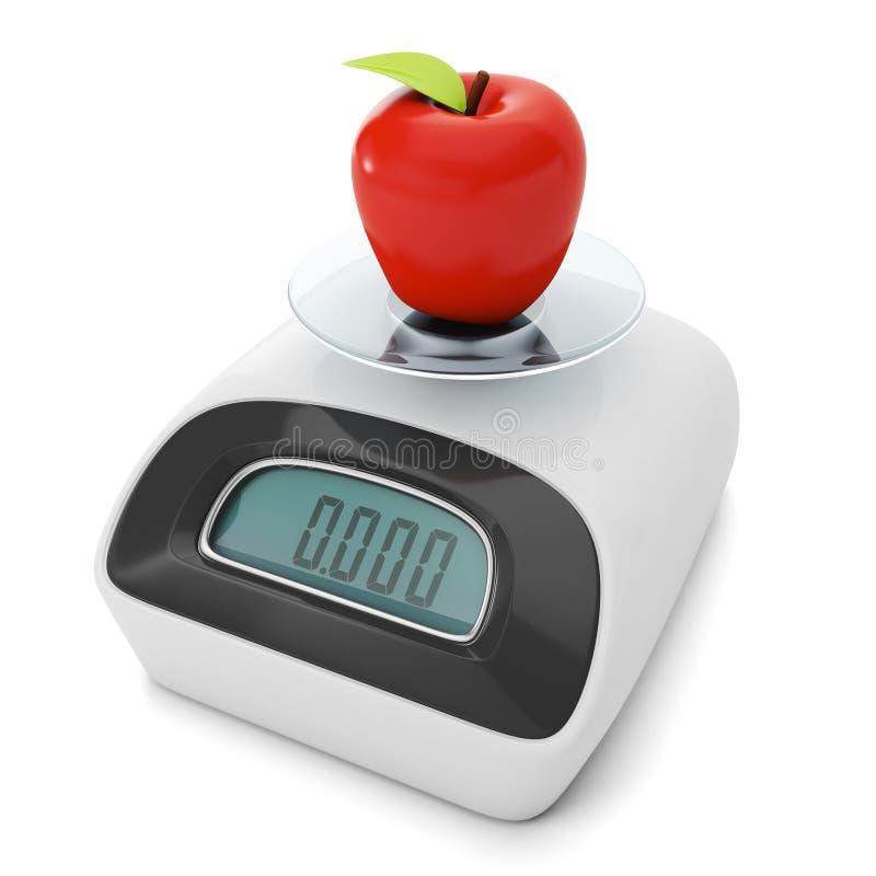Régime et perte de poids. illustration de vecteur