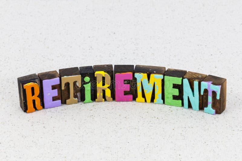 Régime financier de retraite Planification des pensions de retraite senior photos libres de droits
