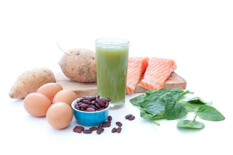 Régime riche en protéines de superfood photographie stock libre de droits