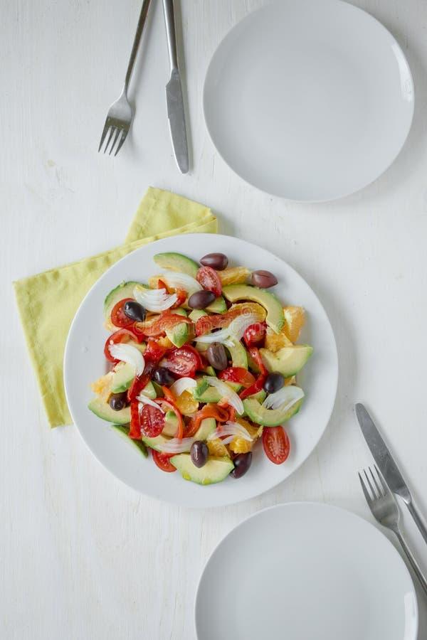 Régime sain Fruit frais et salade de légumes photo libre de droits