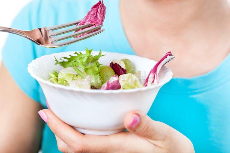 Régime végétarien heureux images libres de droits