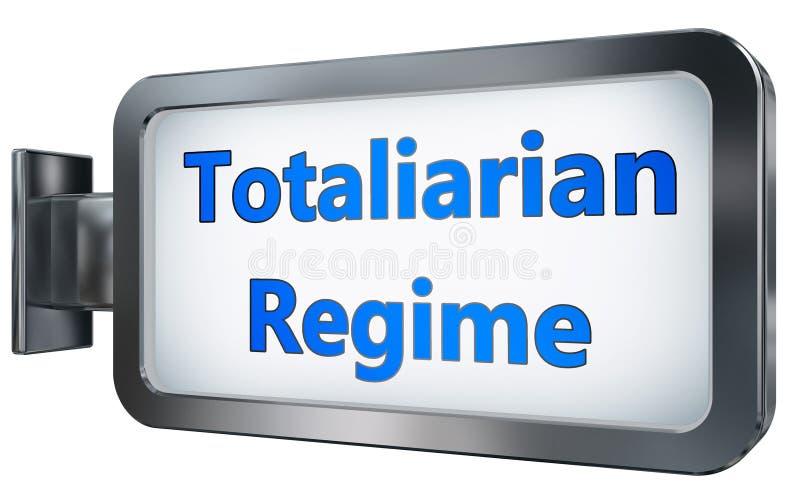 Régimen de Totaliarian en fondo de la cartelera stock de ilustración