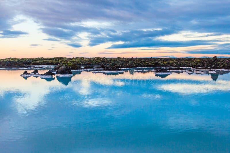 Région bleue de lagune près de Reykjavik, Islande images libres de droits