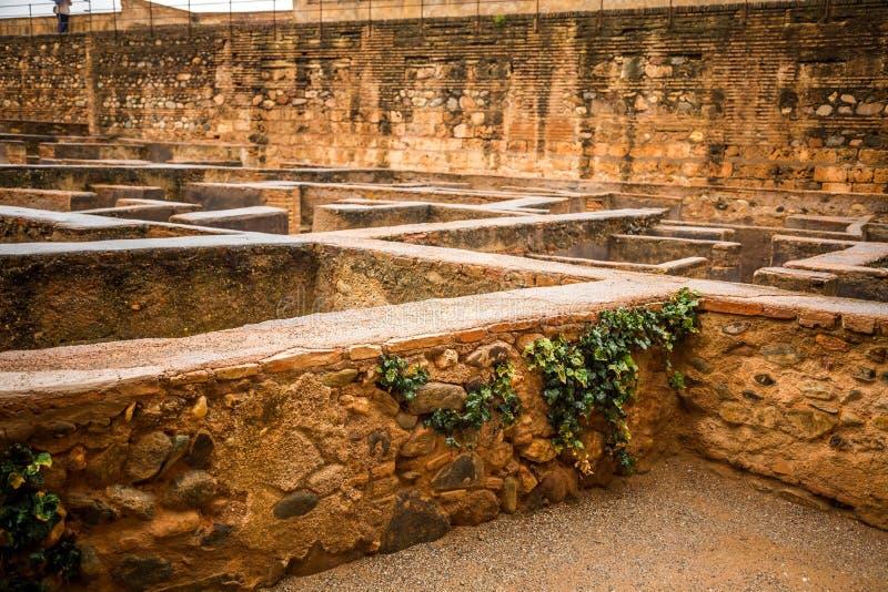 Région d'Alhambra, ruines des maisons de soldats photos libres de droits
