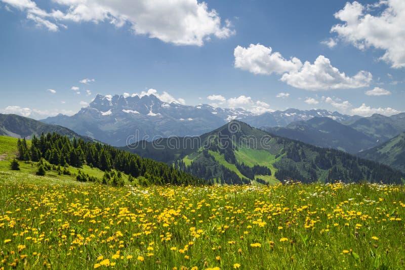Région d'Alpes français, le Rhône - d'Alpes photographie stock
