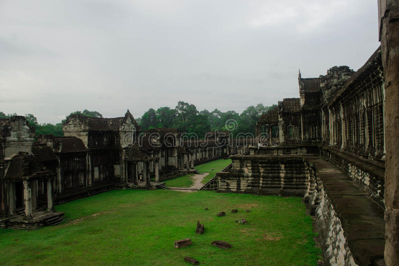 Région d'Angkor Wat Terrace photo libre de droits