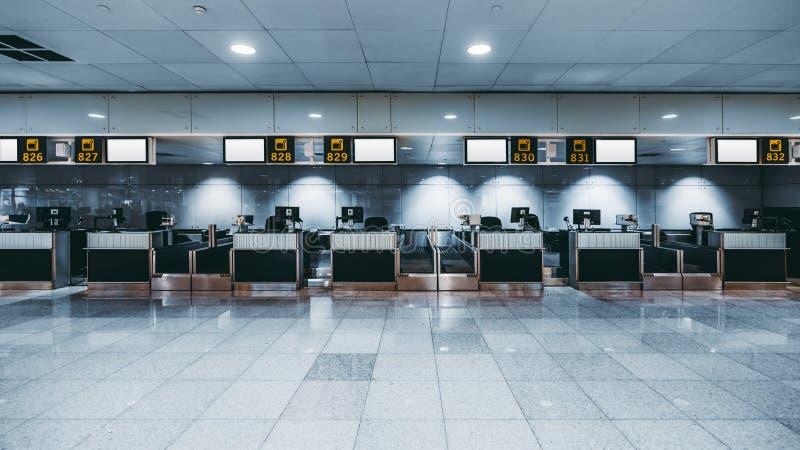 Région d'enregistrement d'un aéroport moderne photos libres de droits
