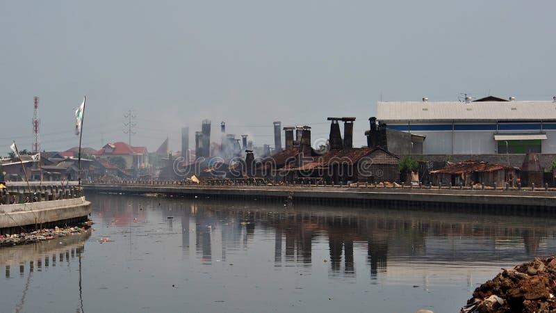 Région d'usine, Semarang, Indonésie images stock