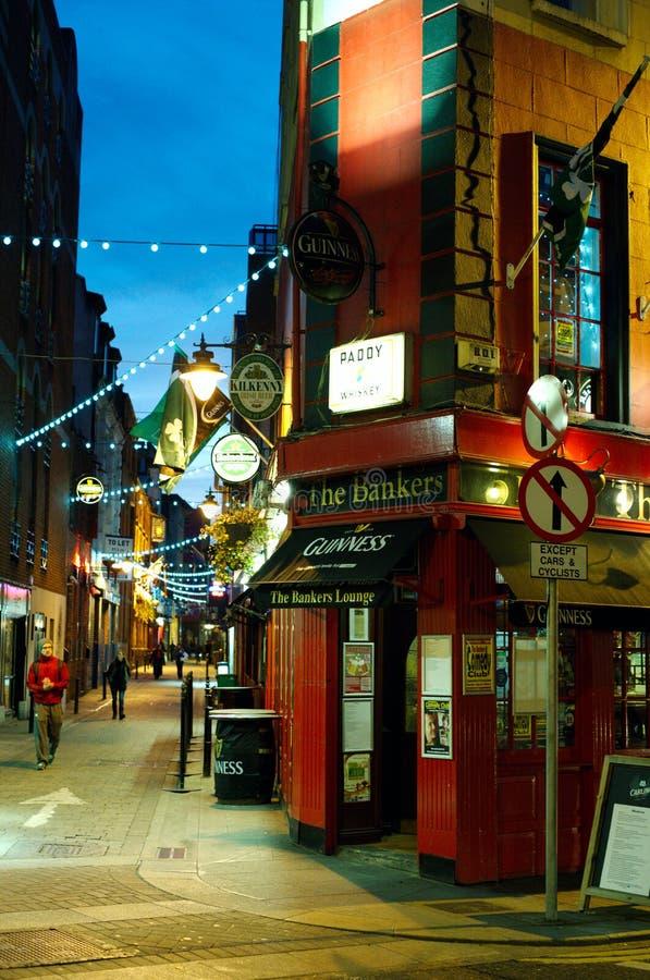 Région de bar de temple à Dublin. l'Irlande photographie stock libre de droits