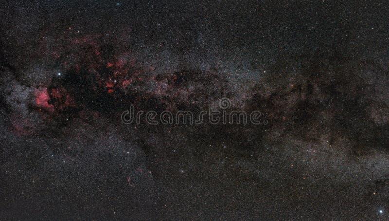 Région de Cygnus à l'intérieur de la manière laiteuse photographie stock
