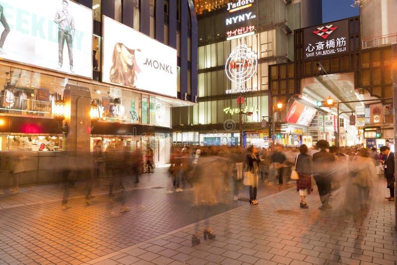 Région de Dotonbori, Osaka image stock