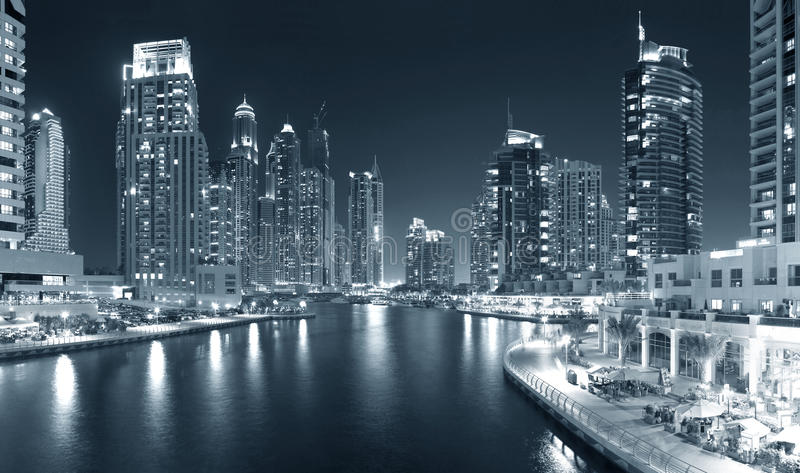 Région de Dubaï - marina de Dubaï photos stock