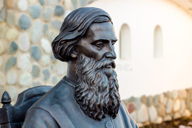 Région de Kaluga, Russie - mars 2019 : Monument à l'auteur, à l'ethnographe et au collecteur russes Vladimir Dal de folklore image stock