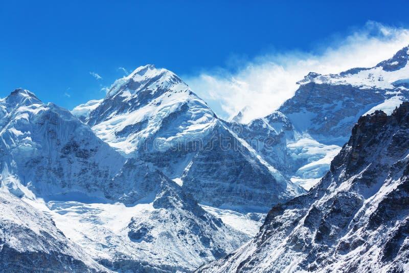 Région de Kanchenjunga photos stock