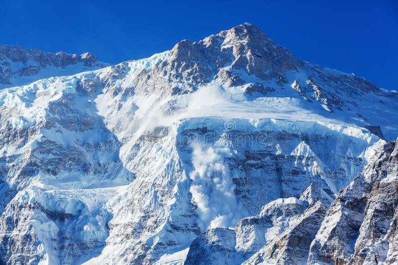 Région de Kanchenjunga image stock