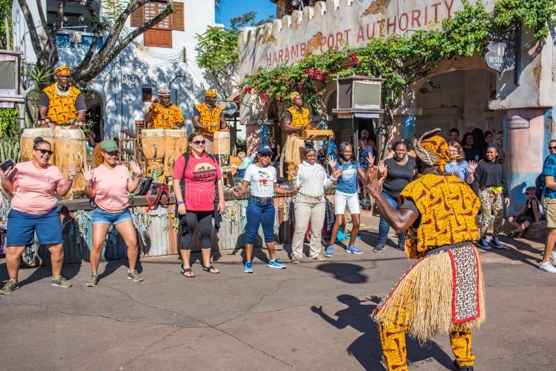 Région de l'Afrique au règne animal chez Walt Disney World photos stock
