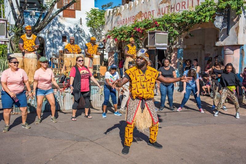 Région de l'Afrique au règne animal chez Walt Disney World photographie stock