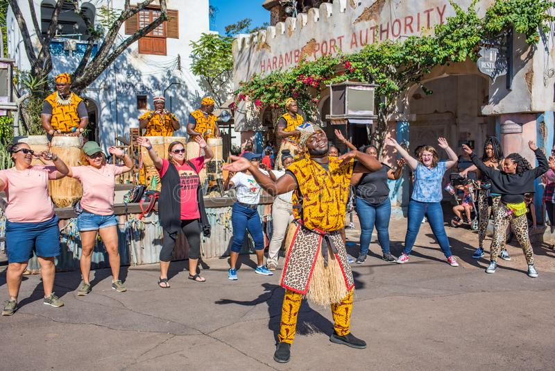 Région de l'Afrique au règne animal chez Walt Disney World images libres de droits