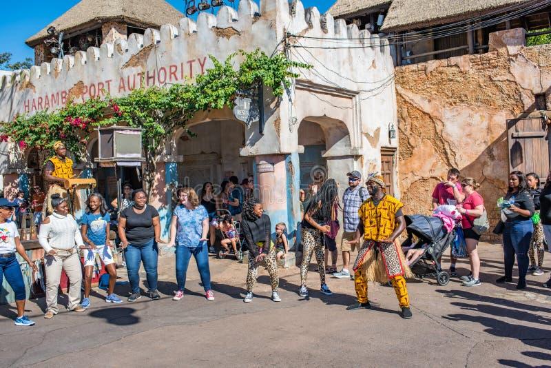 Région de l'Afrique au règne animal chez Walt Disney World photo libre de droits