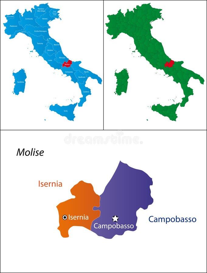 Région de l'Italie - le Molise illustration de vecteur