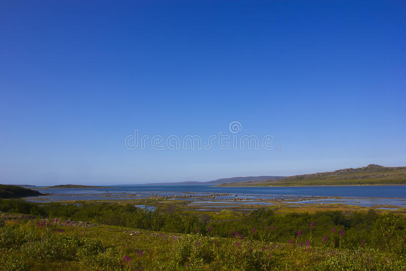 Région de la mer de Barents, Mourmansk, Russie photographie stock