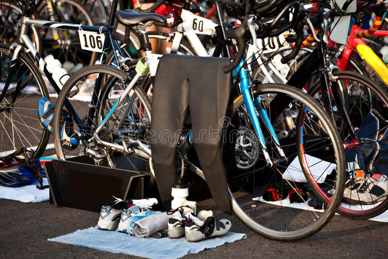 Région de passage de Triathlon photos libres de droits