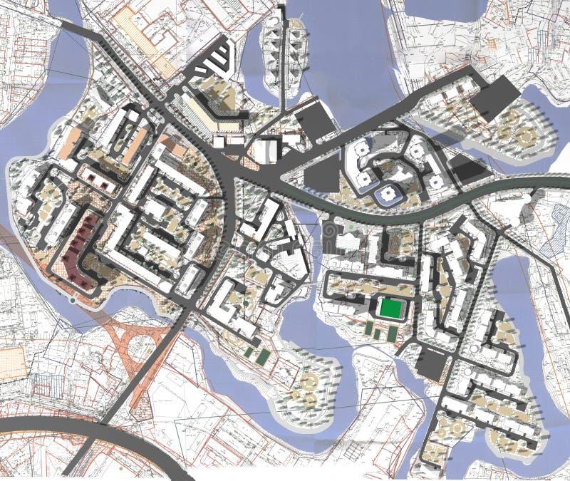Région de projet de ville illustration de vecteur