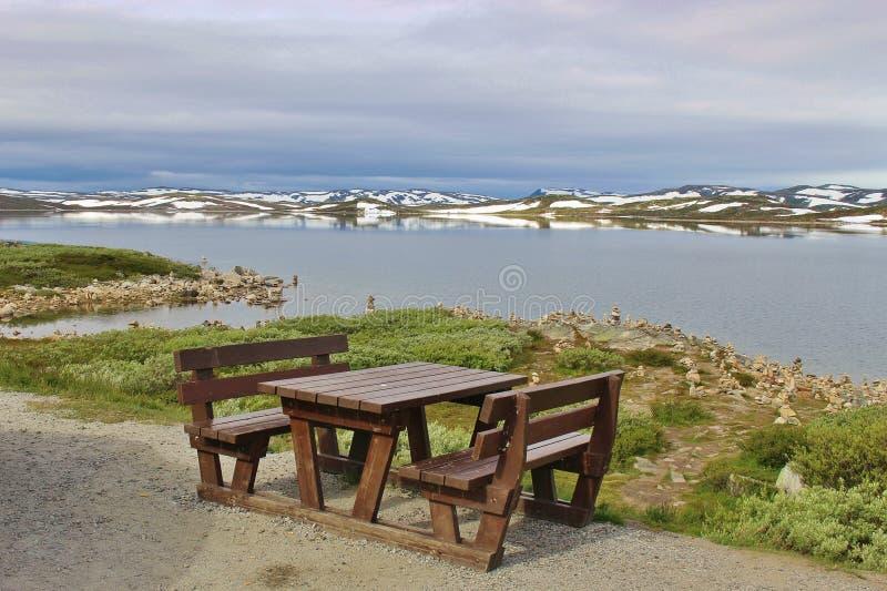 Région de repos sur le plateau de montagnes de Hardanger, Norvège, l'Europe photo stock