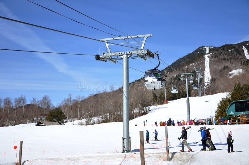Région de ski de montagne de Whiteface, Adirondacks images stock