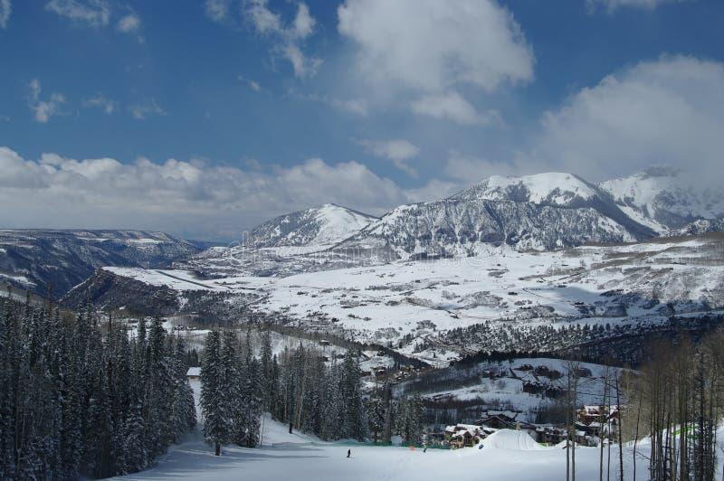 Région de ski de tellurure images libres de droits