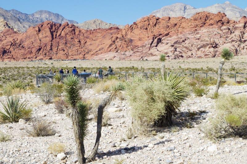 Région de visionnement dans la région rouge de conservation de roche, Nevada images libres de droits