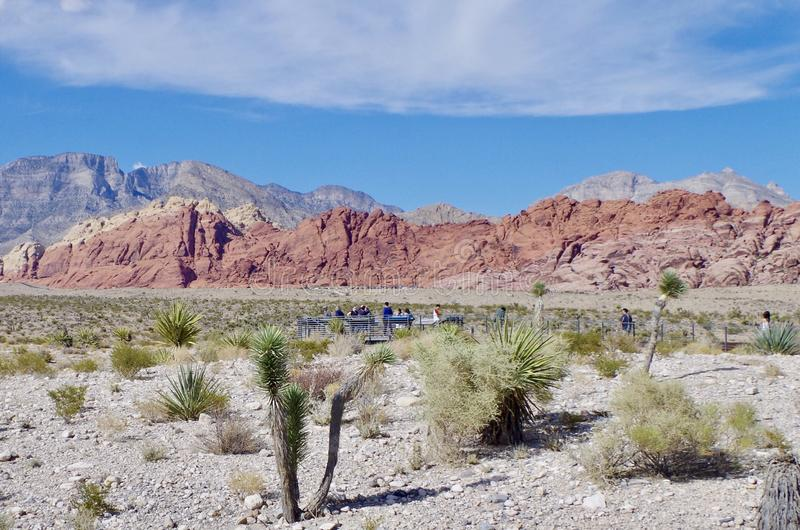 Région de visionnement dans la région rouge de conservation de roche, Nevada image libre de droits