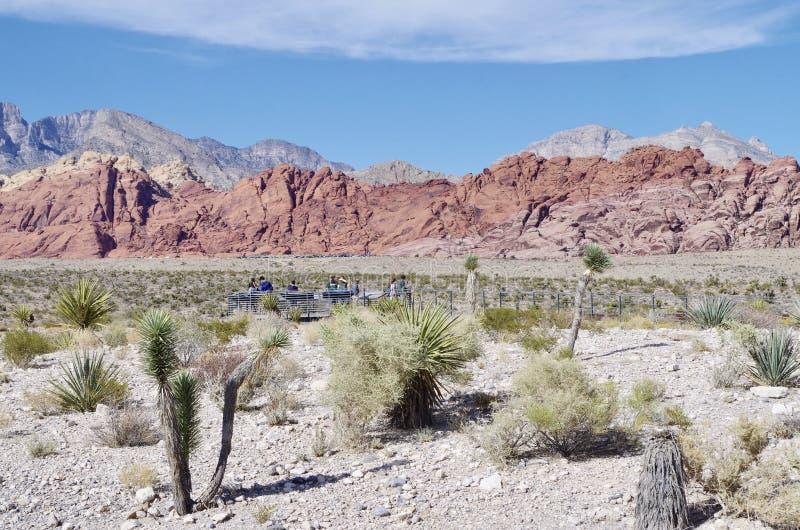 Région de visionnement dans la région rouge de conservation de roche, Nevada photos stock