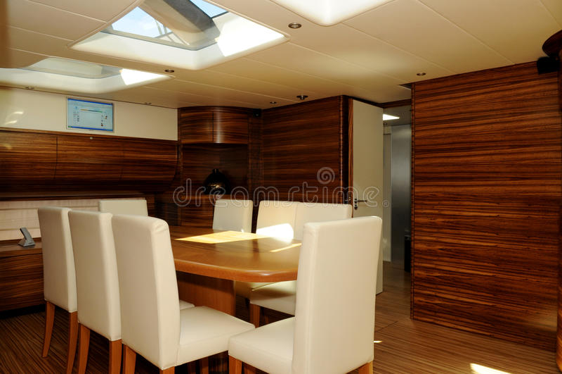 Région dinante de yacht photographie stock libre de droits
