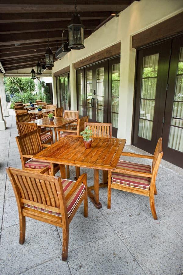 Région extérieure de patio photographie stock