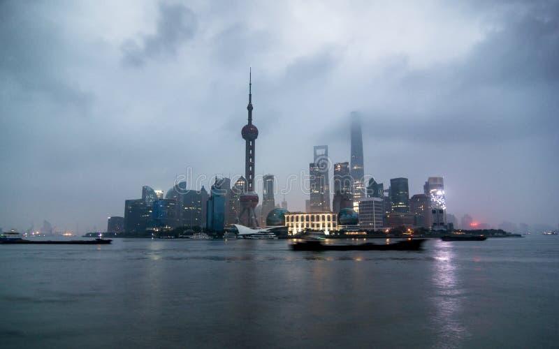 Région financière de Changhaï, Pudong images libres de droits