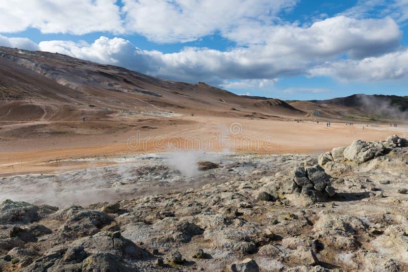 Région géothermique de Hverir dans le nord de l'Islande près du lac Myvatn photo stock