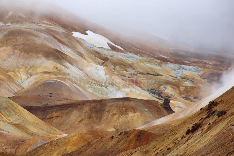 Région géothermique de Kerlingarfjoll, Islande photographie stock libre de droits
