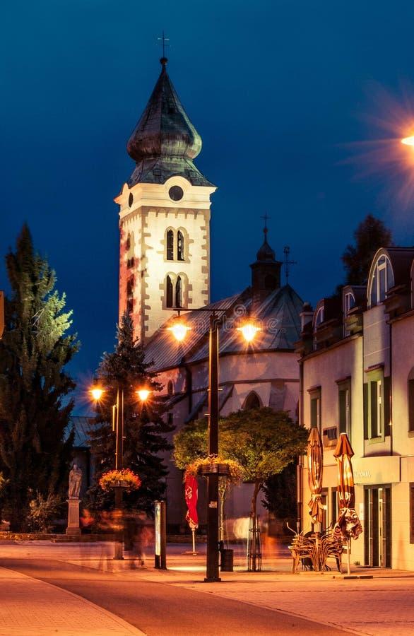 Région Liptov en Slovaquie une sa nature et hautes montagnes de tatras images stock