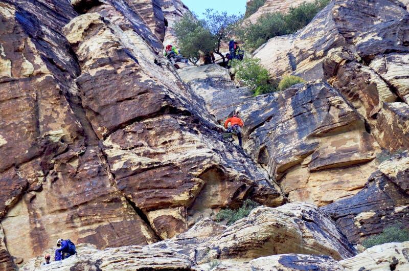 Région rouge de conservation de roche, Nevada du sud images stock