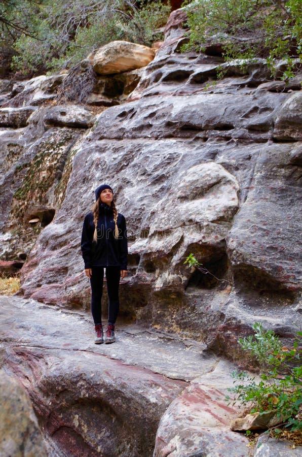 Région rouge de conservation de roche, Nevada du sud, Etats-Unis photo libre de droits
