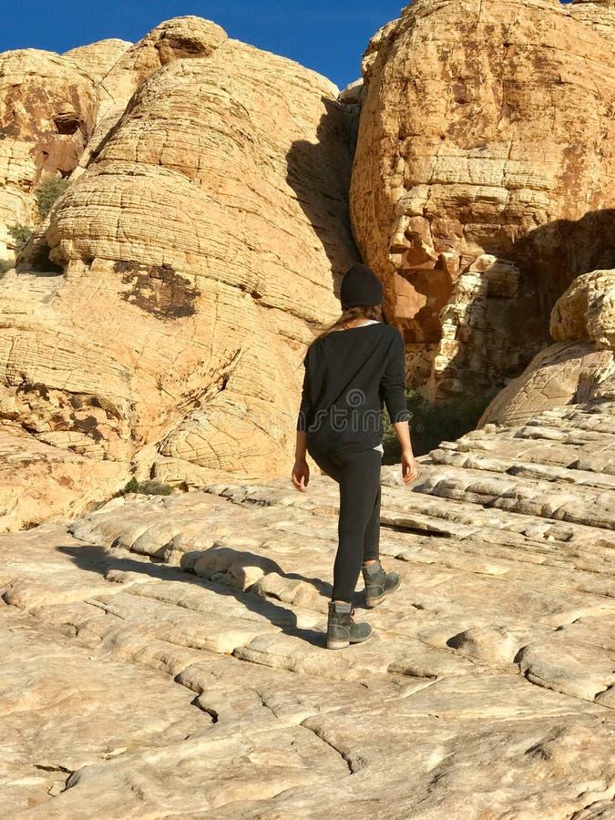 Région rouge de conservation de roche, Nevada, Etats-Unis photos libres de droits