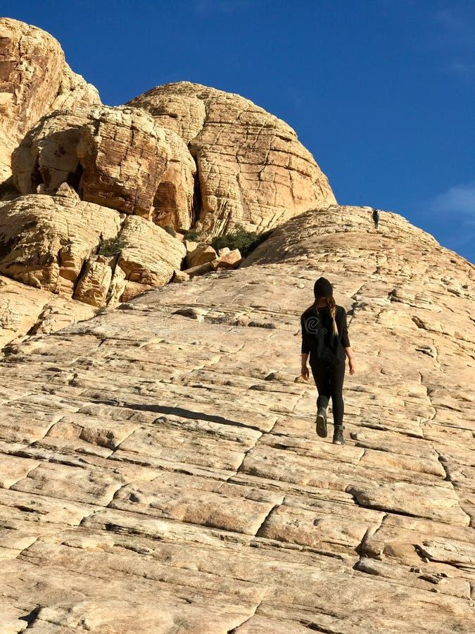 Région rouge de conservation de roche, Nevada, Etats-Unis photos stock
