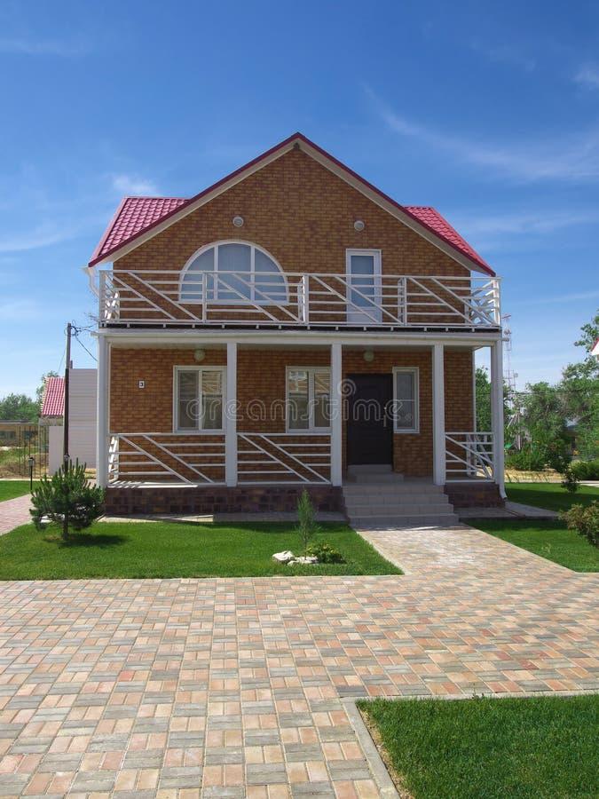 Région russe d'Elton Volgograd de station de vacances de nouveau cottage photographie stock libre de droits