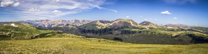 Région sauvage d'été de Rocky Mountain National Park Never photos stock